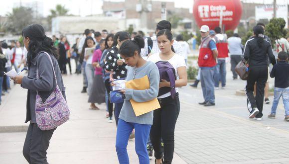 Tasa de desempleo del área urbana del país alcanzó el 12,4%. (Foto: GEC)