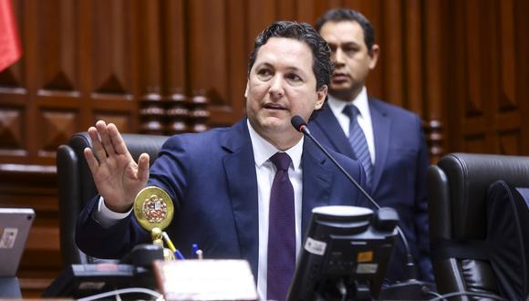 El presidente del Congreso, Daniel Salaverry, en una sesión del pleno del pasado 8 de marzo. (Foto: Congreso).