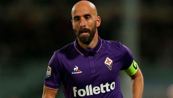 Borja Valero fue capitán de la Fiorentina de Italia   Foto: Difusión.