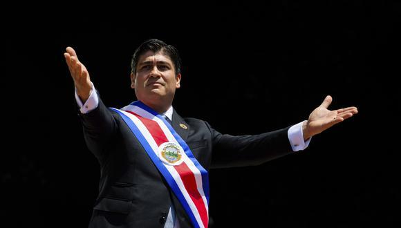 Carlos Alvarado, presidente de Costa Rica. (Foto: AP)