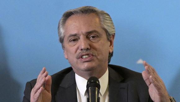 """En su discurso, Fernández dijo que el gobierno saliente dejó a la nación en """"una situación de virtual default"""". (Foto: AFP)"""