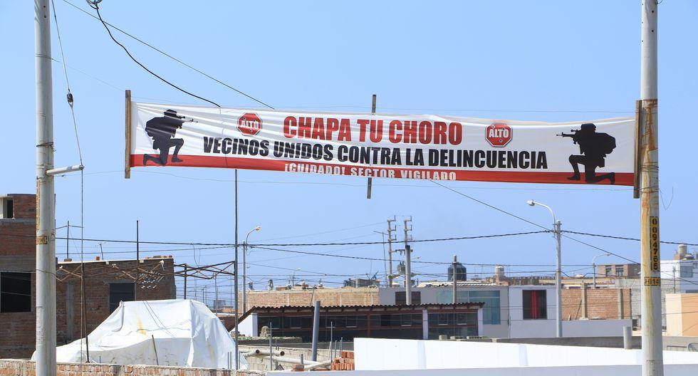 'Chapa tu choro', la campaña que busca frenar la delincuencia en Huanchaquito. (Foto: Johnny Aurazo)