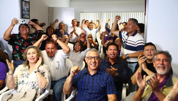 Julio Guzmán, dirigente del Partido Morado, aseguró que tendrán como prioridad la lucha contra la corrupción. (Foto: GEC)