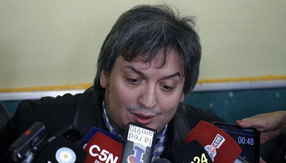 Máximo Kirchner, hijo de la presidenta argentina Cristina Fernández de Kirchner. (Foto de Walter Diaz / AFP).