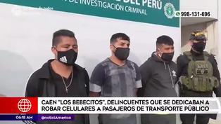 Puente Piedra: capturan a banda que robaba celulares en transporte público