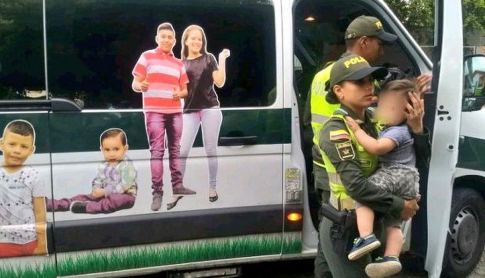 El pequeño hijo de la modelo venezolana tenía una infección cutánea causada por haber dormido junto al cadáver de su madre. (Foto: Policía Nacional de Colombia)