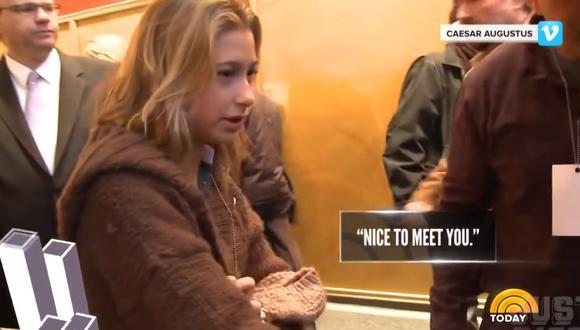 Hailey Baldwin el día que conoció a Justin Bieber