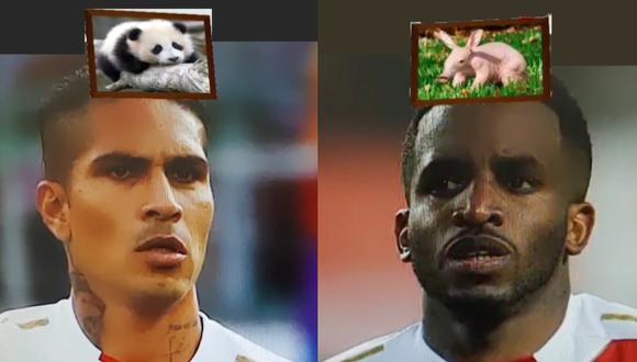 El filtro 'Parecidos razonables' sobre los rostros de Paolo Guerrero y Jefferson Farfán. (Foto: Instagram)