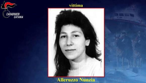 Imagen de Nunzia Alleruzzo, asesinada por su hermano en 1995. (Captura de video/Carabineri Catania).