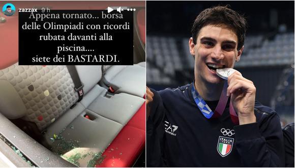 """Nadador italiano ofrece jugosa recompensa para recuperar los """"recuerdos"""" de Tokio 2020"""