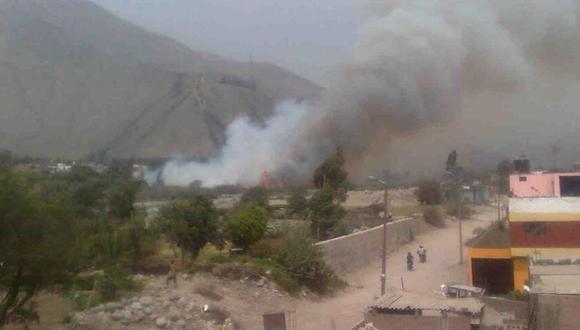 Incendio forestal de medianas proporciones se registra en Chaclacayo