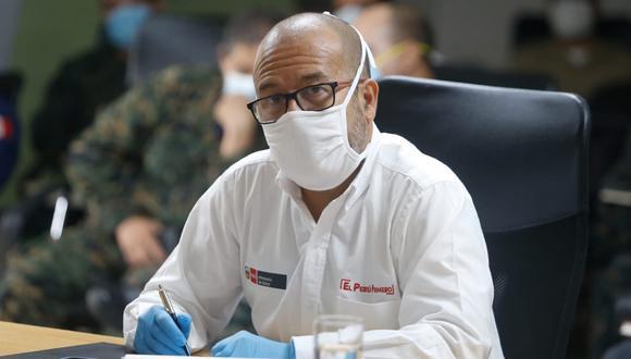 Víctor Zamora pidió a las clínicas privadas que dejen a un lado el tema de ganancias económicas y prime el tema de vidas de los ciudadanos en medio de la pandemia por coronavirus. (Foto: Minsa)