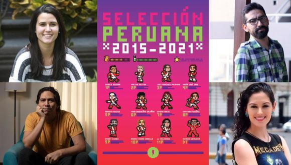"""A la izquierda: María José Caro y Cristhian Briceño. A la derecha: Stuart Flores y Romina Paredes. Cuatro de los once nombres que componen """"Selección peruana 2015-2021"""". (Fotos: GEC)"""