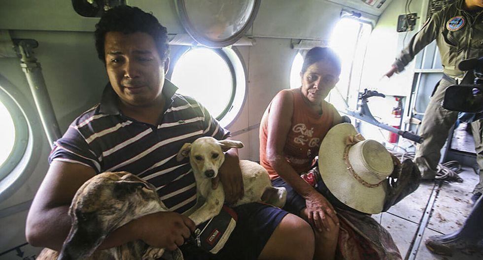 El rescate de una familia que quedó aislada tras desborde - 8