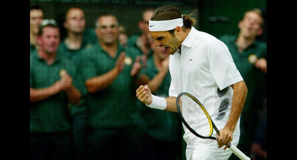 Roger Federer alcanzó su primer Wimbledon al vencer a  Mark Philippoussis por 6-7(5), 2-6, 6-7(3). (Foto: AFP/Reuters)