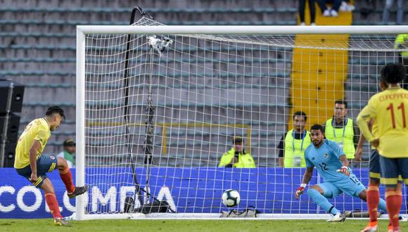 Colombia vs. Panamá: Radamel Falcao García engañó al portero y anotó el 3-0 de penal en 'El Campín' | VIDEO. (Foto: AFP)