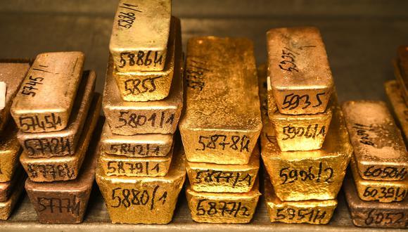 Los futuros del oro en Estados Unidos para entrega en agosto perdían un 0,7%, a US$1.389,5.(Foto: AFP)