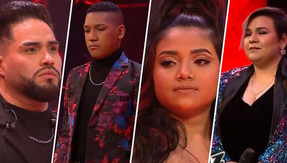 """Randy Feijoo, Aldair Sánchez, Valeria Zapata y Marcela Navarro fueron elegidos como los finalistas de """"La Voz Perú 2021"""". (Foto: Latina)"""