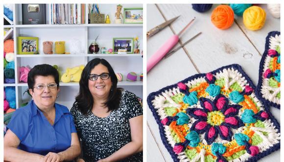 Esperanza y Ana Celia Rosas viven en Lima. Este año pandémico no pudieron grabar mucho juntos, pero han editado el manual. (Foto: Planeta/IG: Tejiendo Perú)
