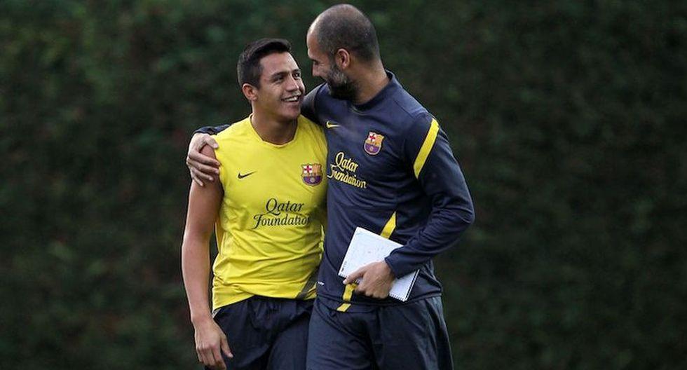 Alexis Sánchez fue dirigido por Guardiola en el Barcelona. (Foto: AFP)