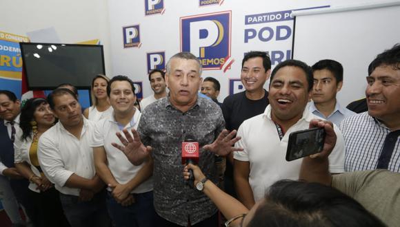 Daniel Urresti, candidato de Podemos Perú, dijo que es positivo que se vaya a buscar el consenso en el nuevo Congreso. (Foto: GEC)