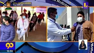 Tacna: Universitarios menores de edad reciben primera dosis