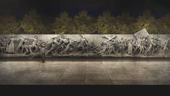 Así quedaría el monumento que Estados Unidos planea construir para homenajear a los caídos en la Primera Guerra Mundial. (Ilustración: Comisión de la Primera Guerra Mundial)