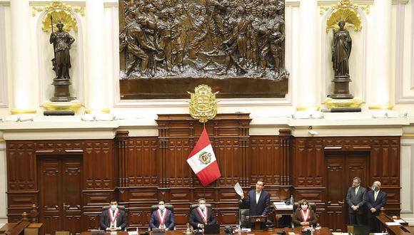 El pleno del Congreso empezó la sesión para debatir la moción de vacancia contra Martín Vizcarra a las 10 a.m. del viernes. (Foto: Presidencia)