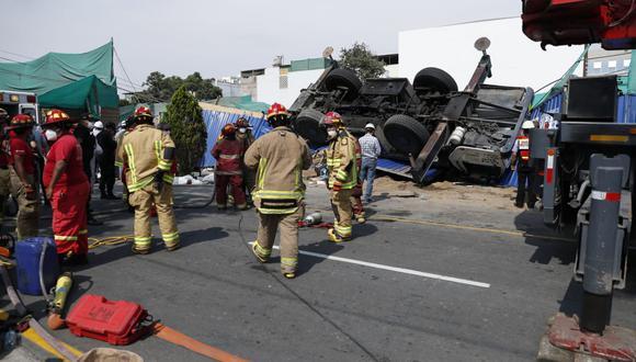 El accidente se produjo en la calle Marconi. (Foto: Hugo Pérez / @photo.gec )