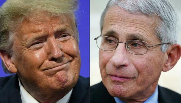 Trump asegura que tiene una buena relación con Fauci. (Getty Images).