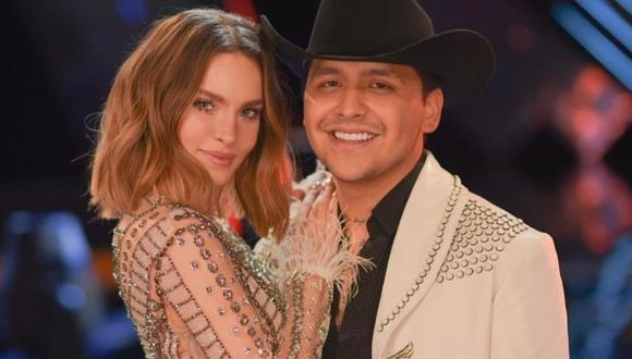 Belinda y Christian Nodal ya no ocultan su amor. (Foto: Captura TV Azteca)