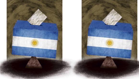 """""""Como legado de los gobiernos de Kirchner, Argentina ahora tiene solo 9 millones de trabajadores en el sector privado que están pagando por un total de 15,3 millones de empleados gubernamentales y pensionados"""". (Ilustración: Giovanni Tazza)"""