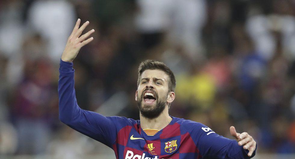 Atlético de Madrid logró el jueves una impresionante victoria 3-2 ante Barcelona para reservar un lugar en la final de la renovada Supercopa española que se disputa en Arabia Saudita, donde enfrentará el domingo en un nuevo derbi al Real Madrid. (AP Photo/Hassan Ammar)
