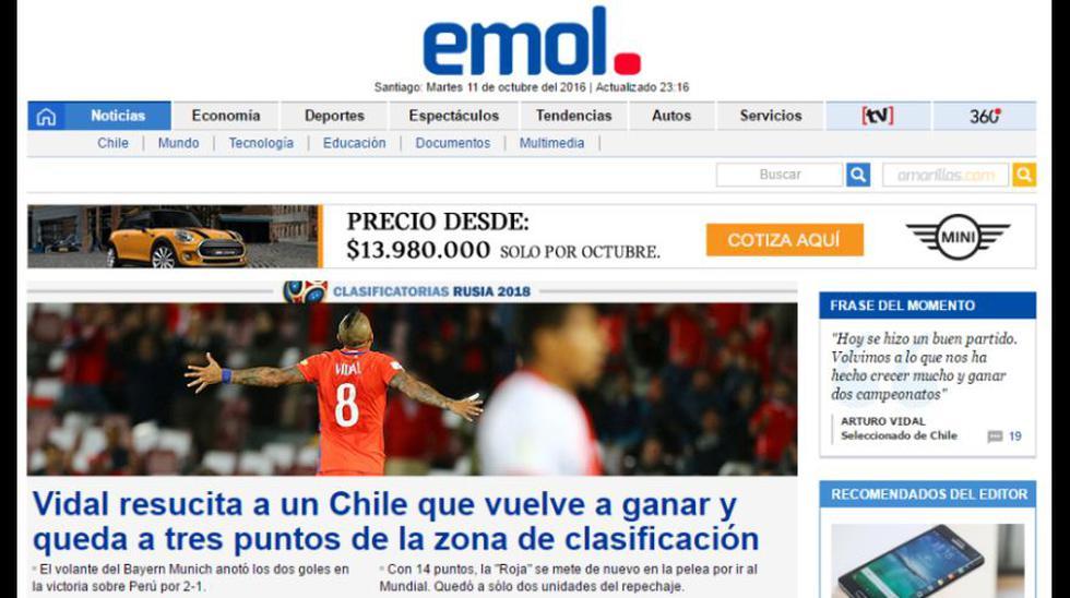 Selección: ¿Qué dijo la prensa chilena del triunfo ante Perú? - 6