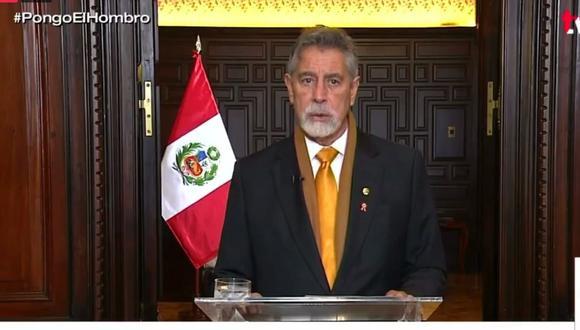 Francisco Sagasti brinda su último mensaje a la Nación (Captura TV)