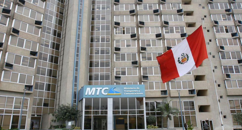 El Ministerio de Transportes y Comunicaciones (MTC). (Foto: Andina)