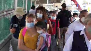 Migrantes cruzan de México a EE.UU conforme a nuevas políticas de Biden