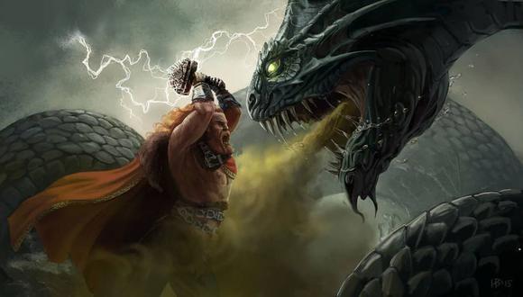 Jörmungandr es el hijo mediano de la giganta Angrboða y Loki, que, según la Edda prosaica, fue arrojada por Odín al gran océano que rodea Midgard, también conocido como la Tierra.(Foto: History Channel)