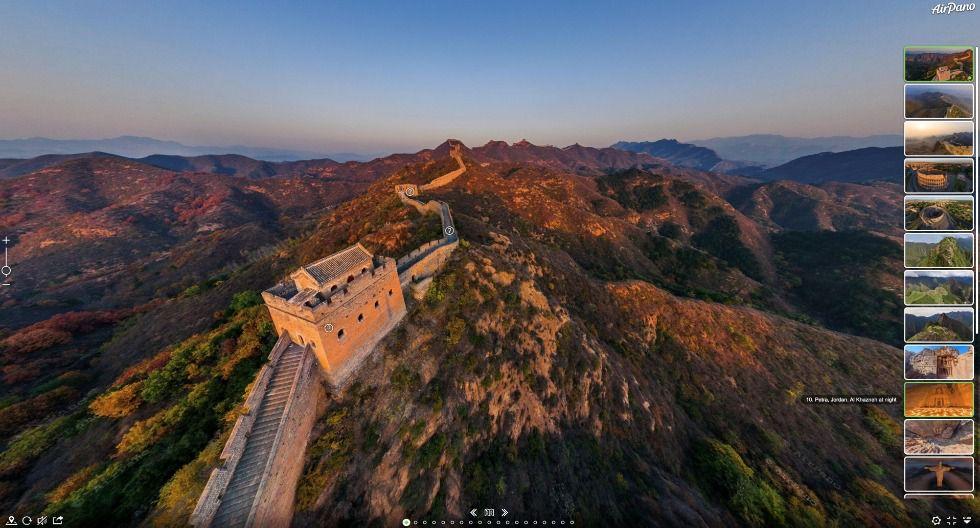 Tras dos meses de cierre de la Gran Muralla China, solo la zona de Badaling abrió al público el 25 de marzo. Sin embargo, únicamente ingresará el 30% de la cantidad acostumbrada. Este sector de la fortificación china solía recibir hasta 70.000 turistas diarios. (Foto: AirPano)