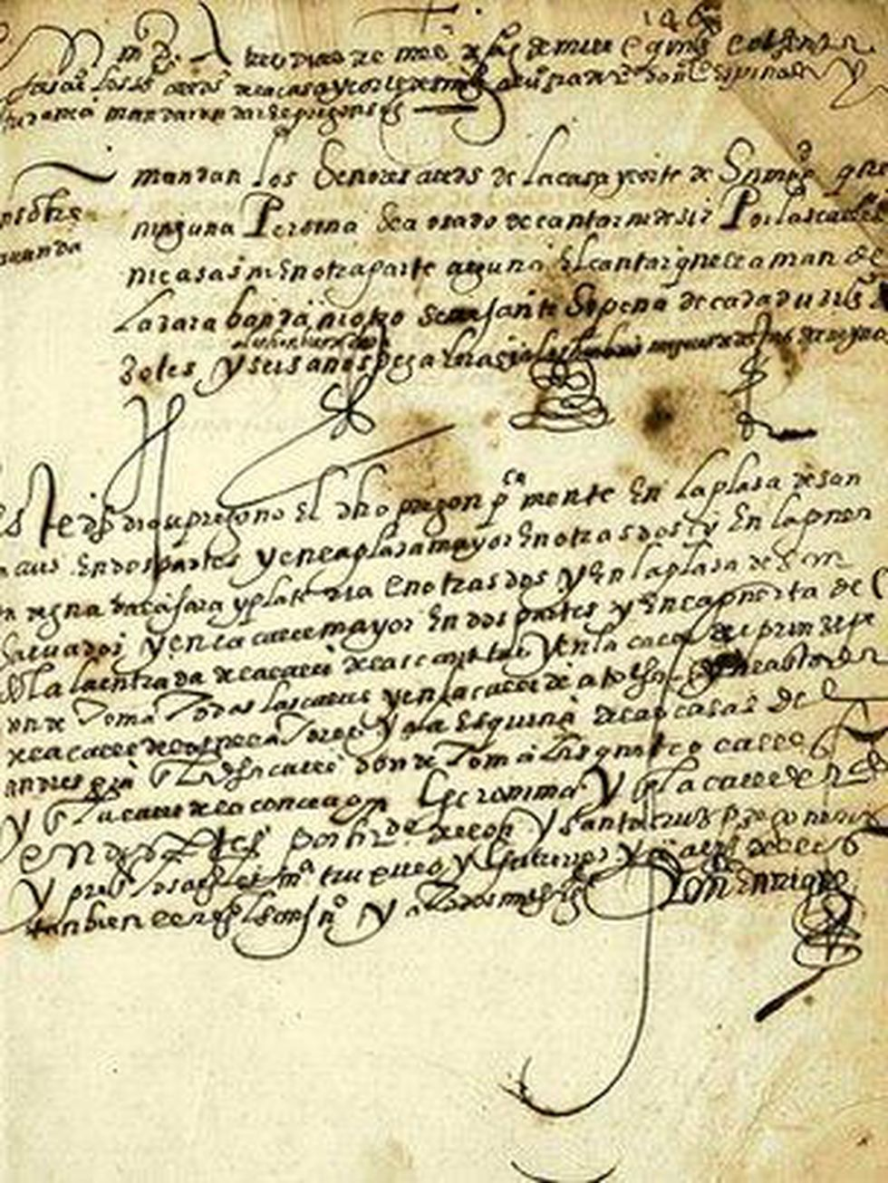 Prohibición de la zarabanda por la Sala de Alcaldes de Madrid, 3 de agosto de 1583. Archivo Histórico Nacional, Sala de Alcaldes; Consejos, lib. I, f. 146