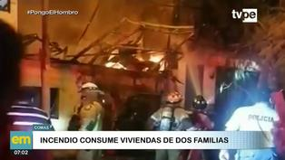 Comas: Incendio deja dos familias damnificadas