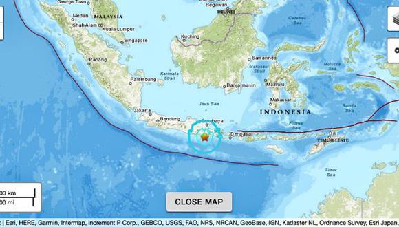 Sismo de magnitud 6 en Indonesia sacude la isla de Java.