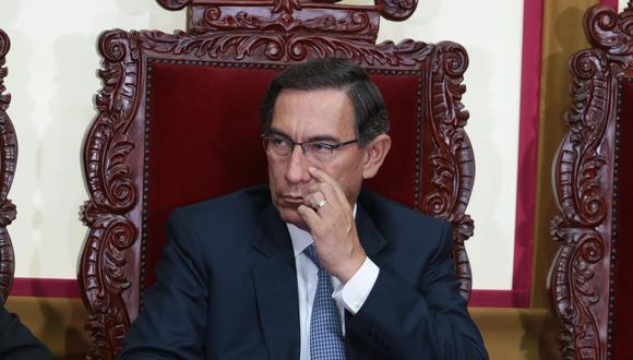 Martín Vizcarra ha sido denunciado por diversos congresistas para que sea inhabilitado para ejercer cargos públicos. (Foto: El Comercio)