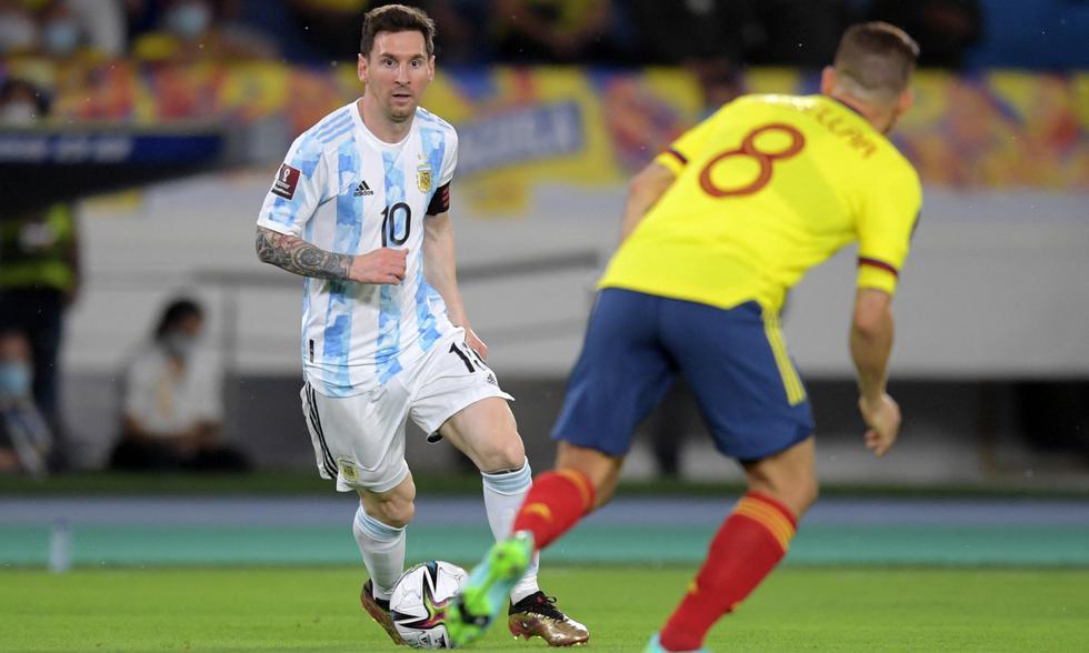 Colombia empató de forma agónica 2-2 ante Argentina por las Eliminatorias Qatar 2022   Foto: AFP