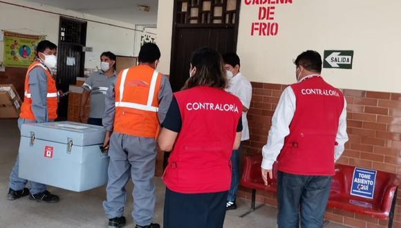 Loreto: La Contraloría detectó la pérdida de tres dosis durante el proceso de inmunización y recomendó a la Diresa adoptar medidas para mejorar custodia de vacunas. (Foto Contraloría)