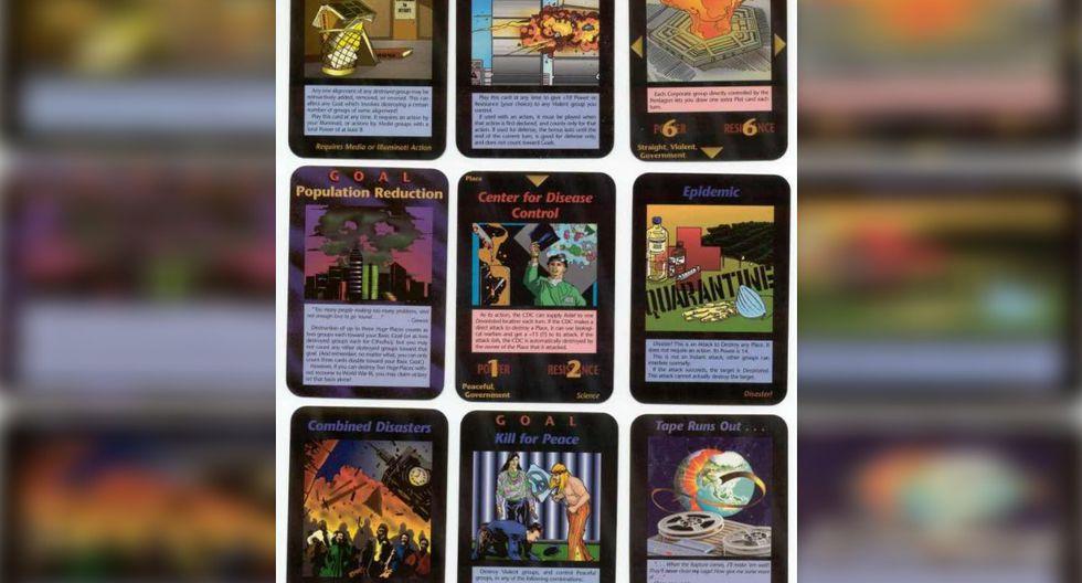 Las diferentes cartas del juego Illuminati de Steve Jackson.| Foto: SJ Games