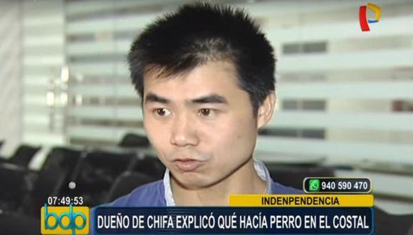 """El extranjero indicó al noticiero """"Buenos Días Perú"""" que la carne encontrada en su vehículo fue comprada a una comerciante en la localidad Canta, al norte de Lima, y que no es de perro."""