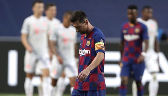 Con Lionel Messi, Barcelona perdió 8-2 ante Bayern Múnich, su peor derrota histórica en la Champions League. (Foto: AFP)