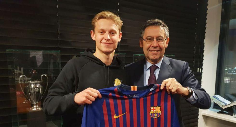 El Barcelona ha asegurado a un futbolista juvenil polivalente que dará que hablar en España. Se estima que la directiva blaugrana desembolsó más de 80 millones de euros por Frenkie De Jong. (Foto: Agencias)