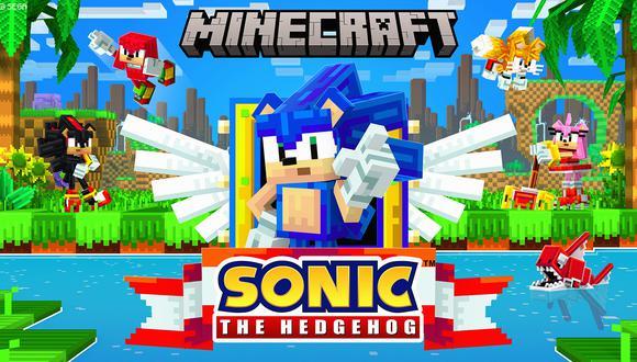Sonic the Hedgehog. (Imagen: Sega / Minecraft)